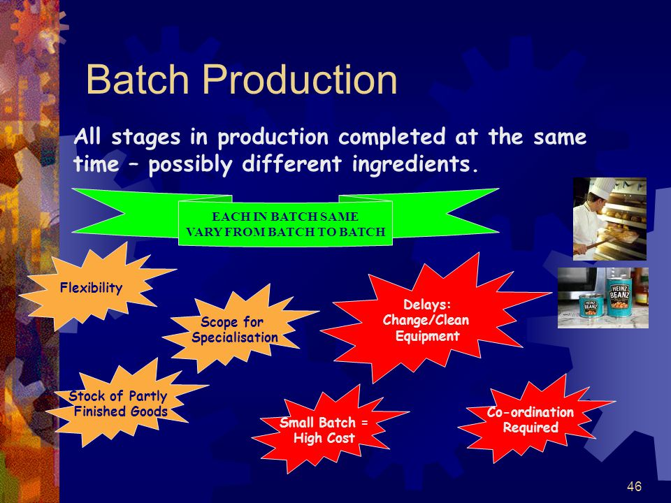 VARY FROM BATCH TO BATCH
