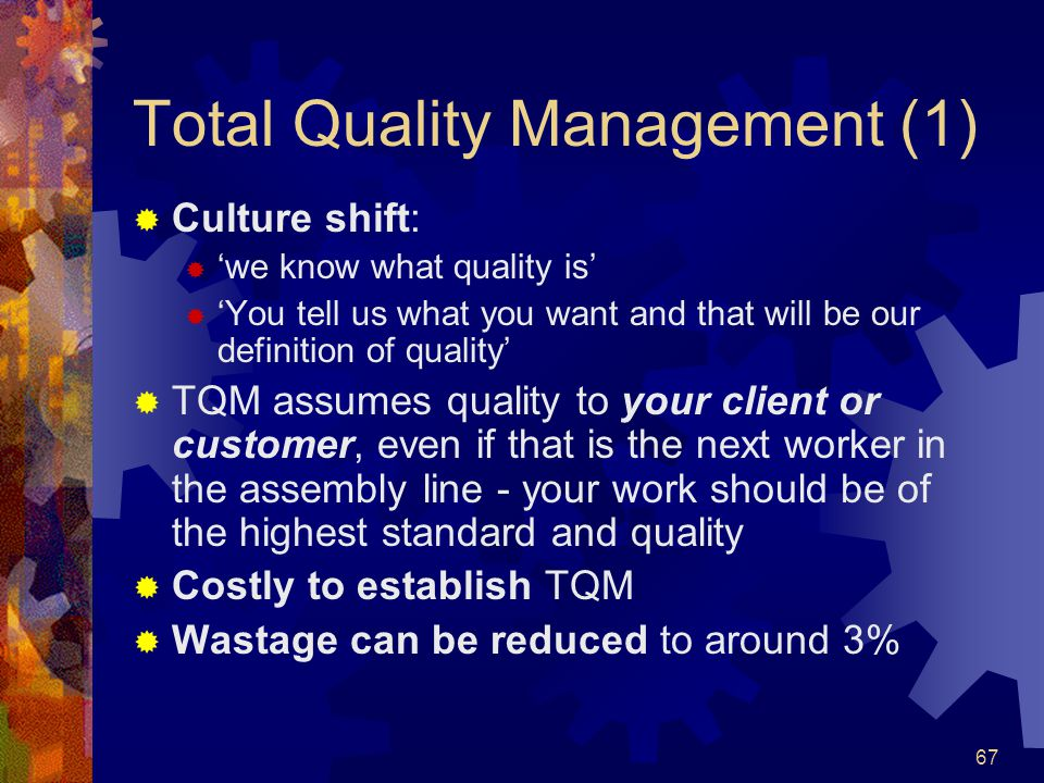 Total Quality Management (1)