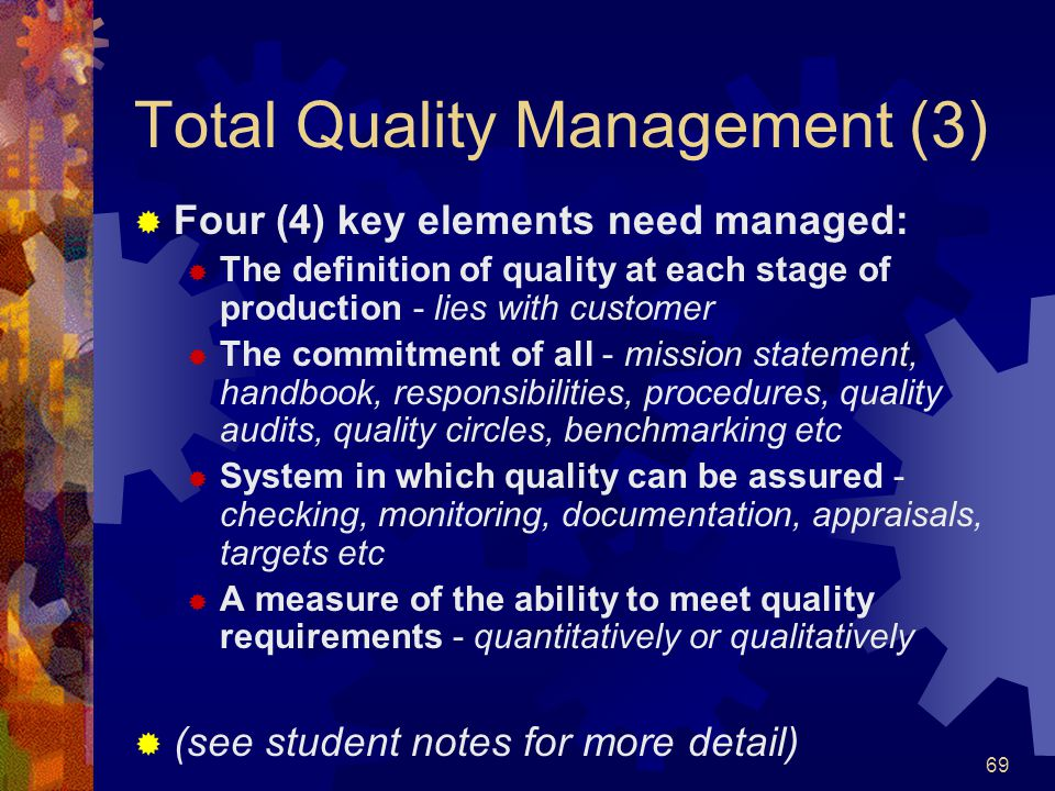 Total Quality Management (3)