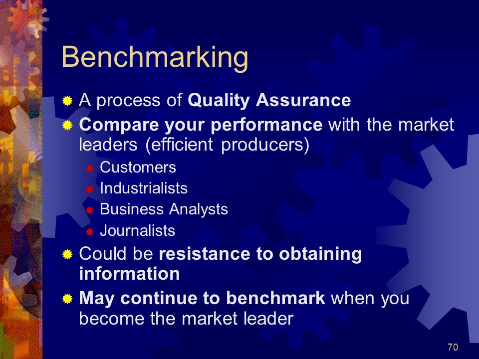 Benchmarking A process of Quality Assurance