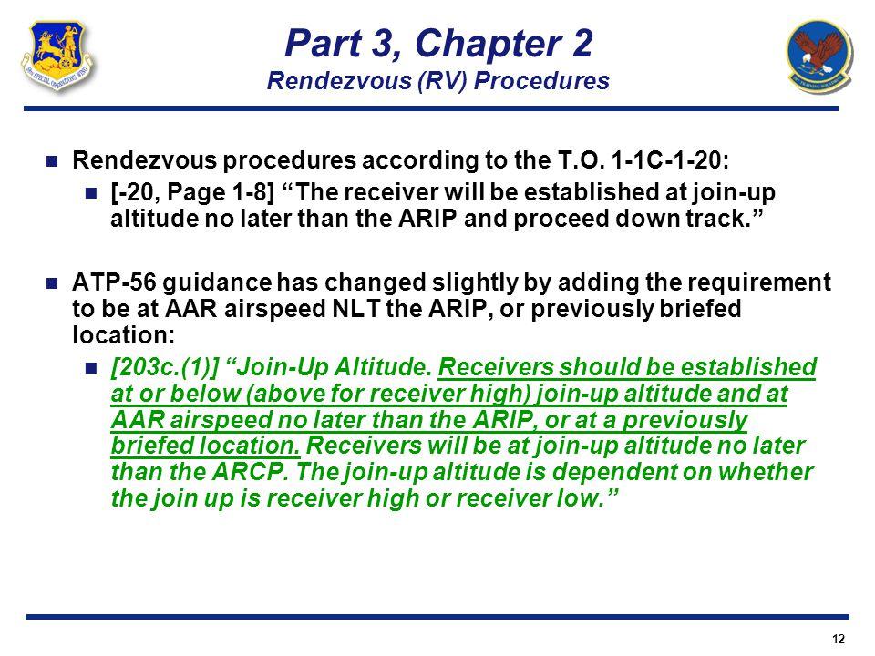 Part 3, Chapter 2 Rendezvous (RV) Procedures