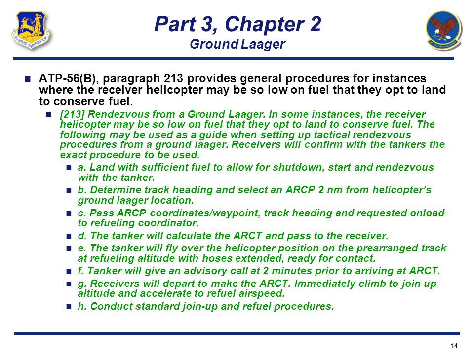 Part 3, Chapter 2 Ground Laager