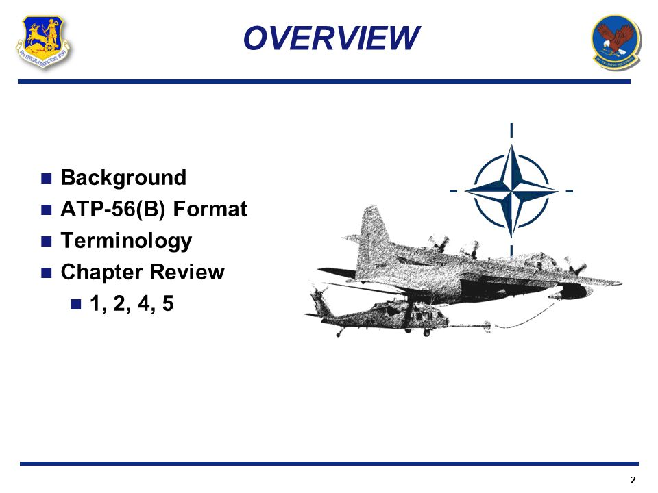 OVERVIEW Background ATP-56(B) Format Terminology Chapter Review