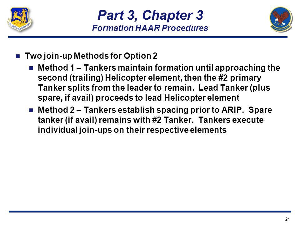 Part 3, Chapter 3 Formation HAAR Procedures