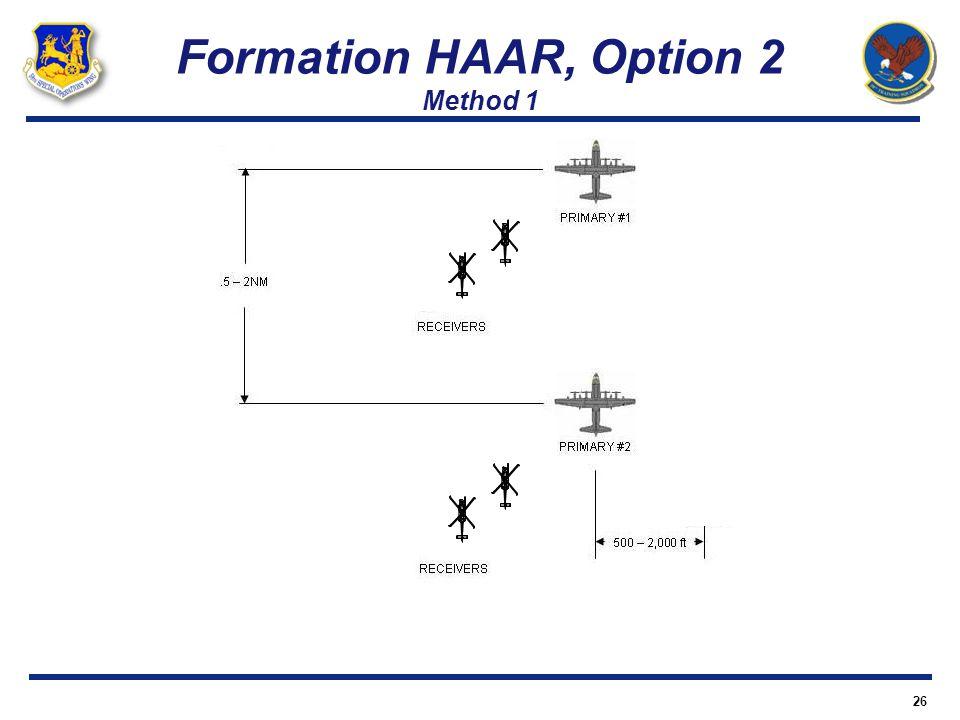 Formation HAAR, Option 2 Method 1