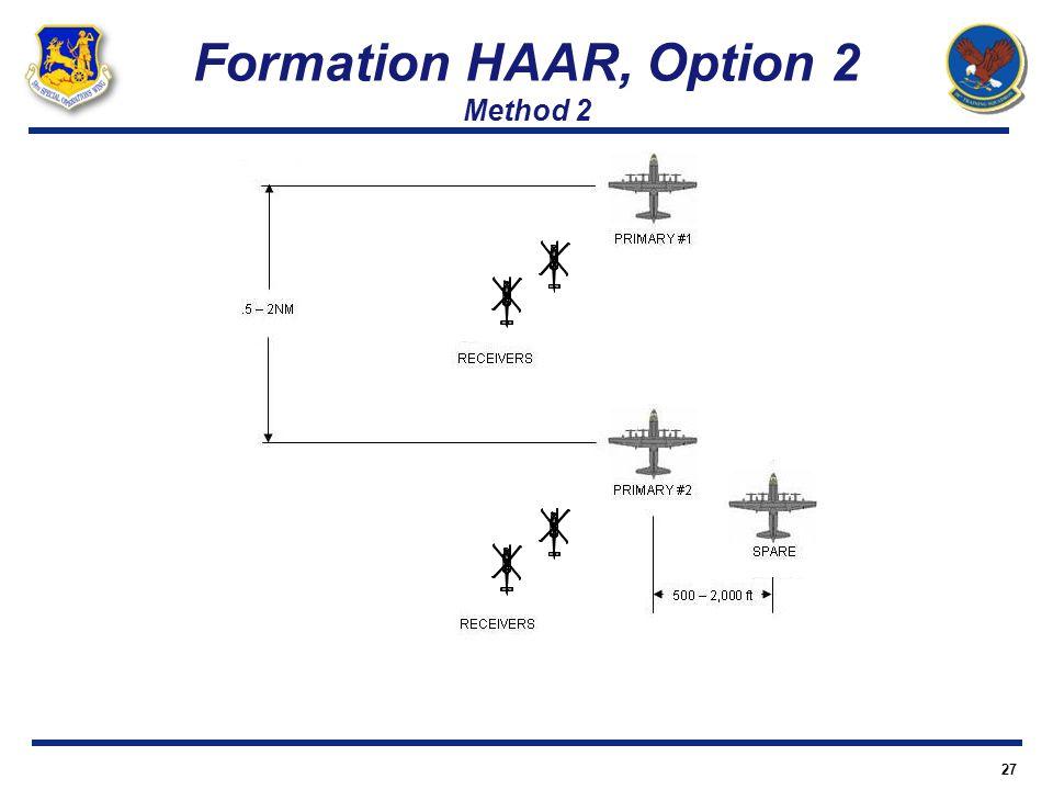 Formation HAAR, Option 2 Method 2