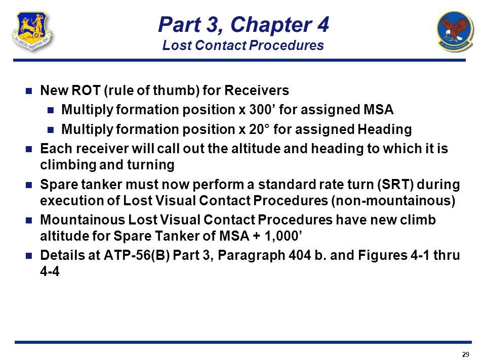 Part 3, Chapter 4 Lost Contact Procedures