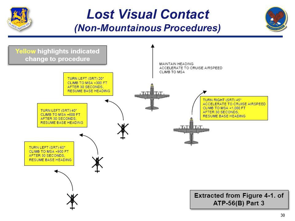 Lost Visual Contact (Non-Mountainous Procedures)