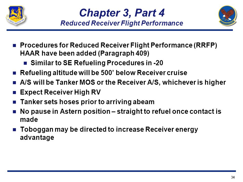 Chapter 3, Part 4 Reduced Receiver Flight Performance
