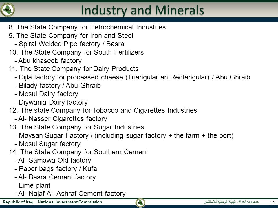 Industry and Minerals