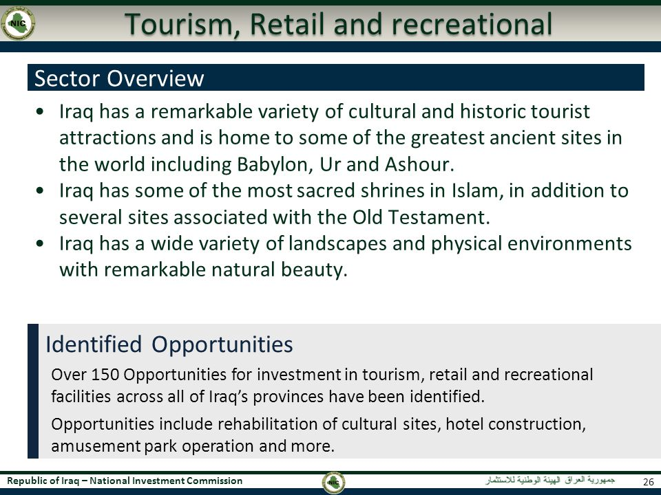 Tourism, Retail and recreational