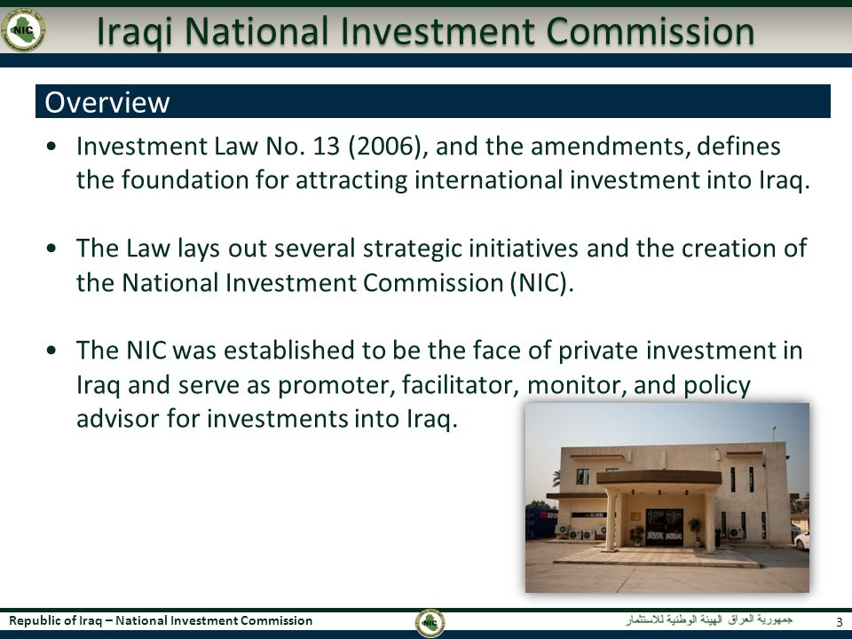 Iraqi National Investment Commission