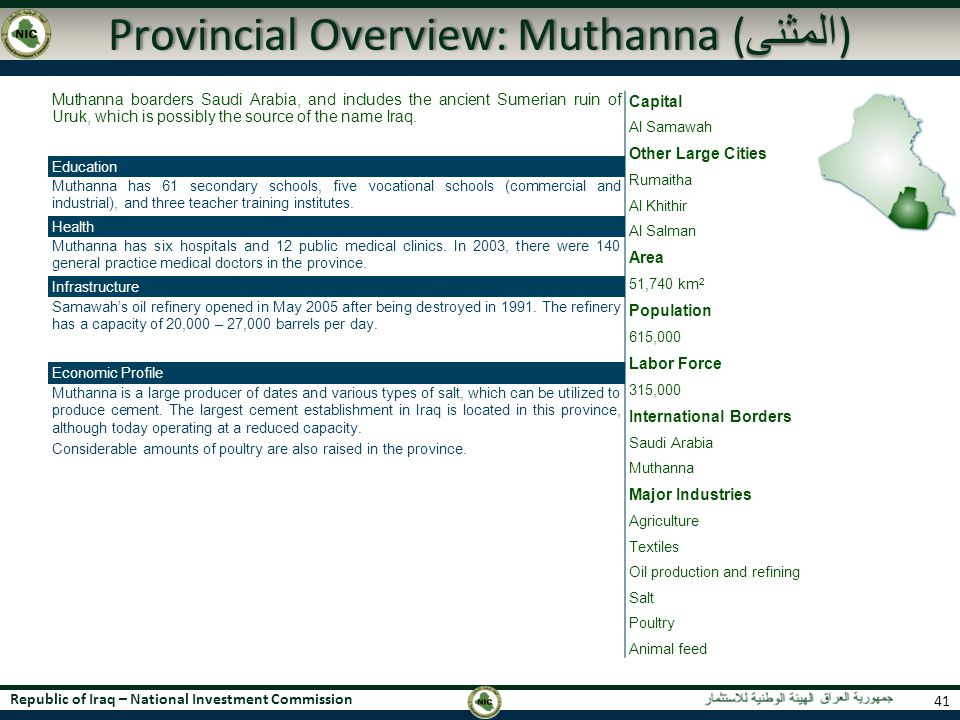 Provincial Overview: Muthanna (المثنى)