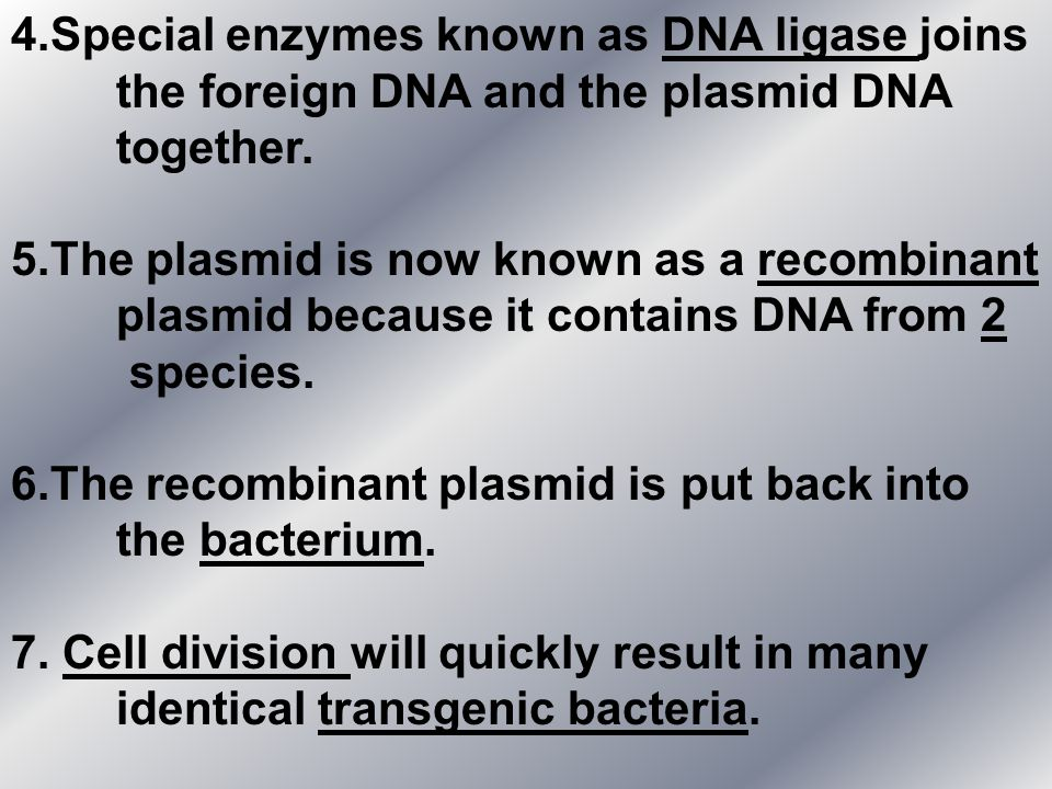 4. Special enzymes known as DNA ligase joins