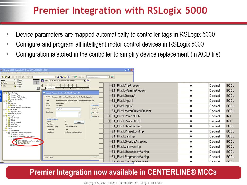 Premier Integration with RSLogix 5000