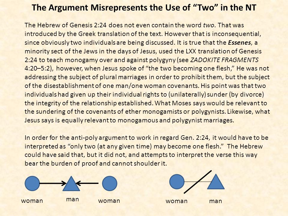 The Argument Misrepresents the Use of Two in the NT