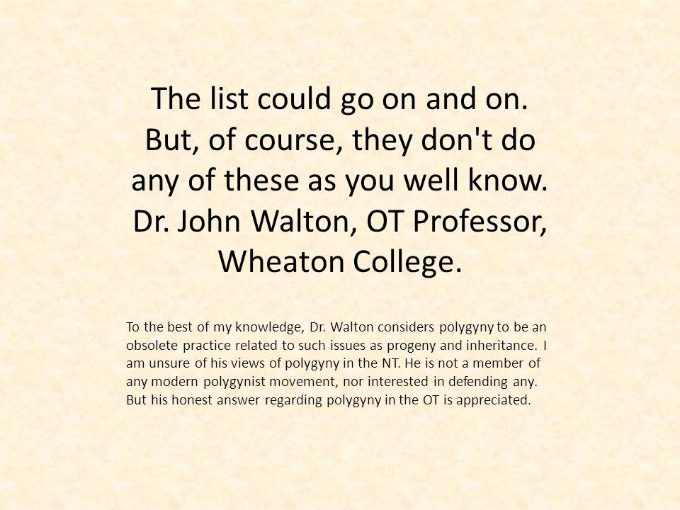 Dr. John Walton, OT Professor, Wheaton College.