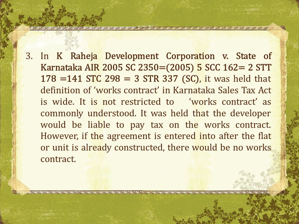 In K Raheja Development Corporation v