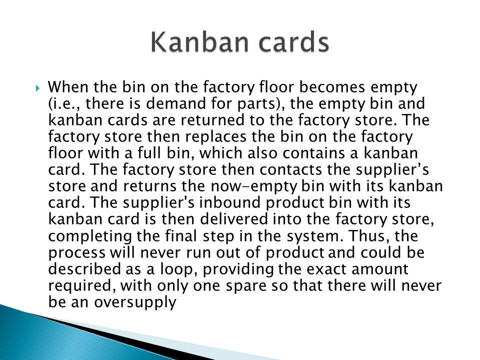 Kanban cards