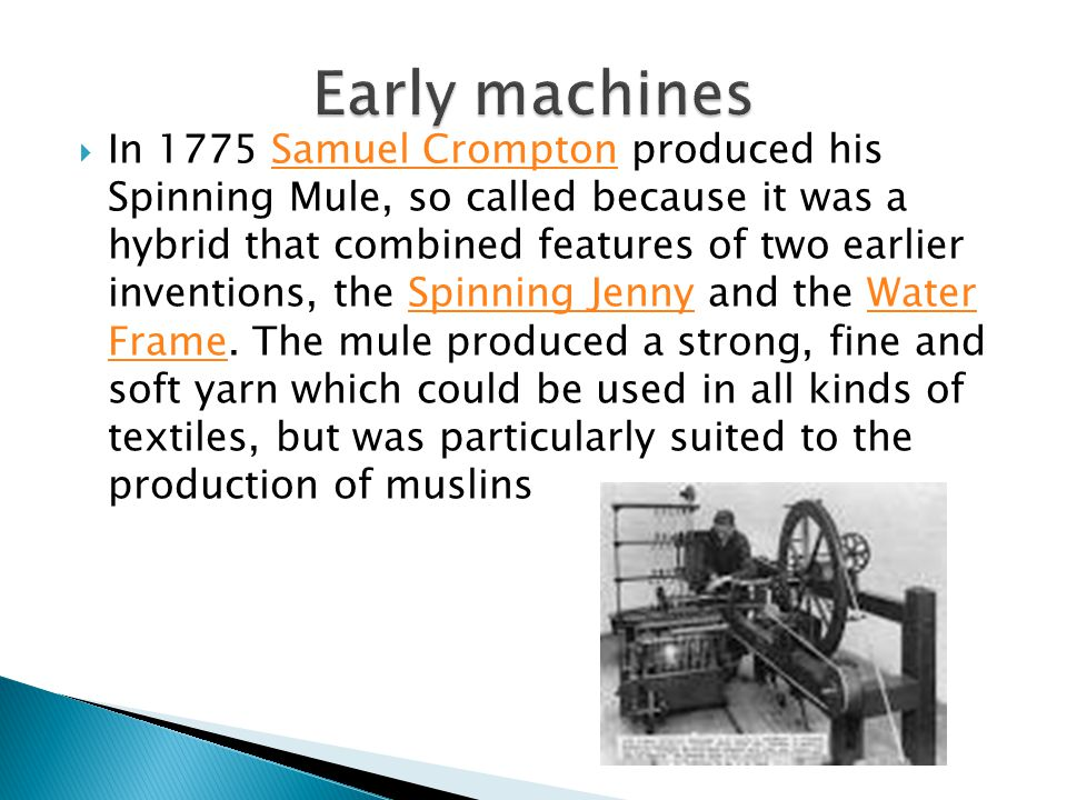 Early machines