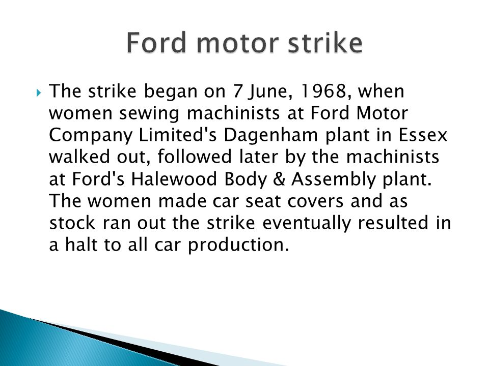 Ford motor strike