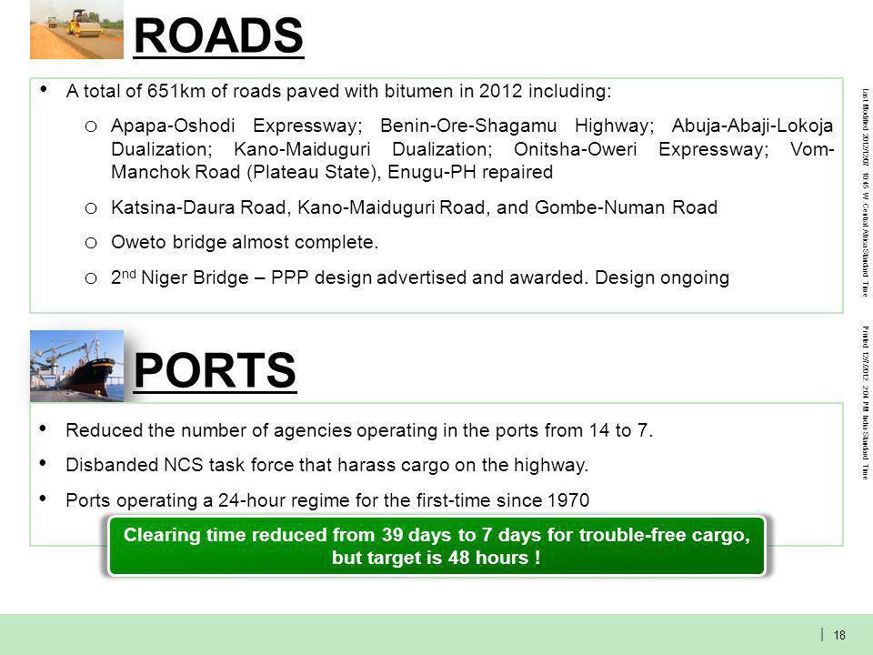 POWER Progress on Roadmap Implementation: