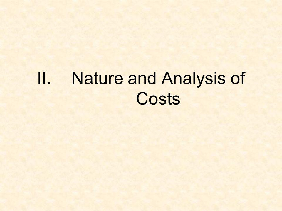 Nature and Analysis of Costs