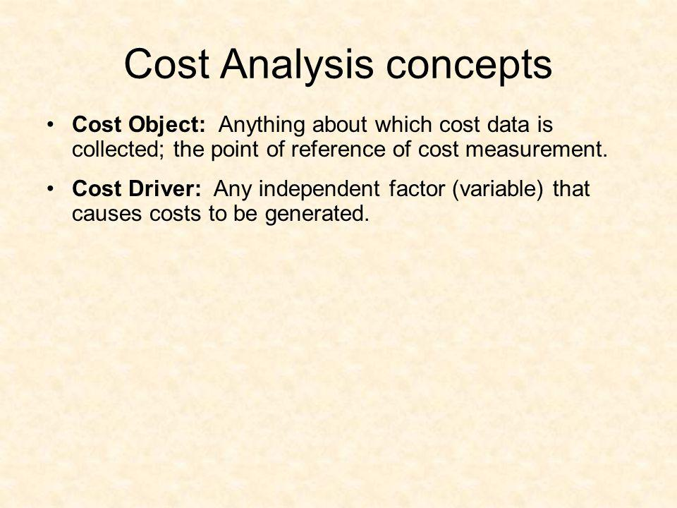 Cost Analysis concepts