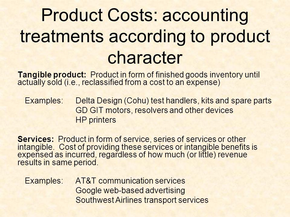 Product Costs: accounting treatments according to product character