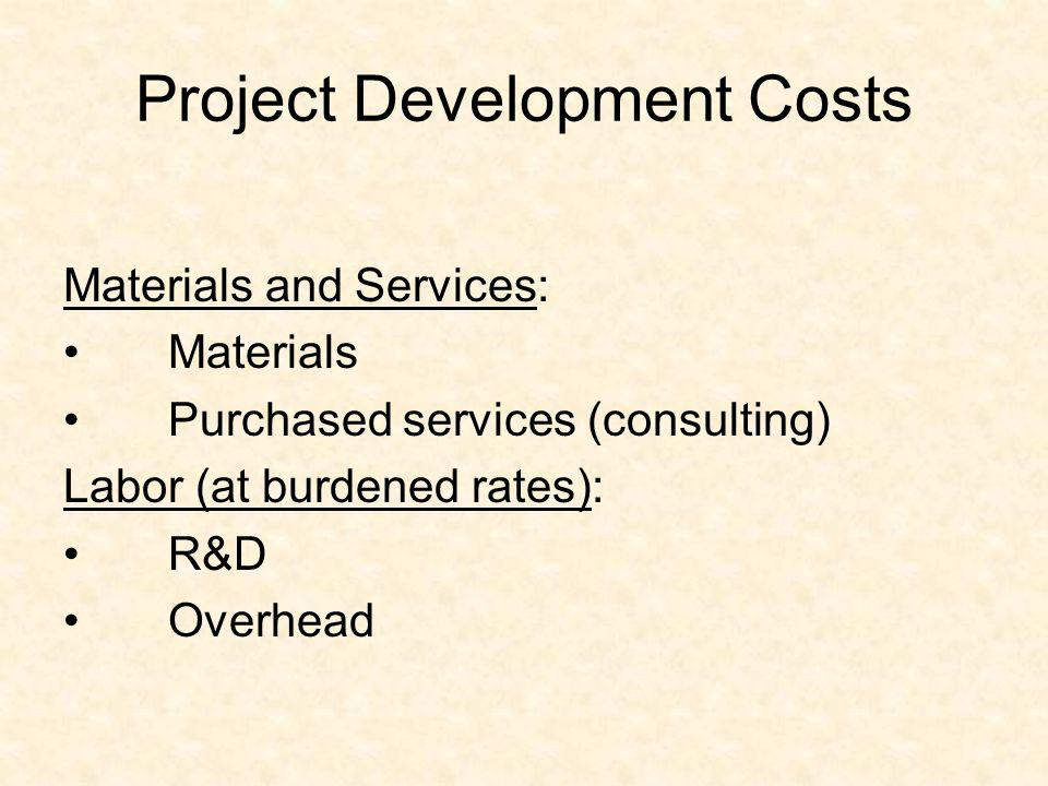 Project Development Costs