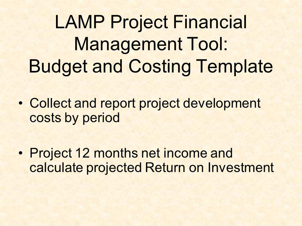 LAMP Project Financial Management Tool: Budget and Costing Template