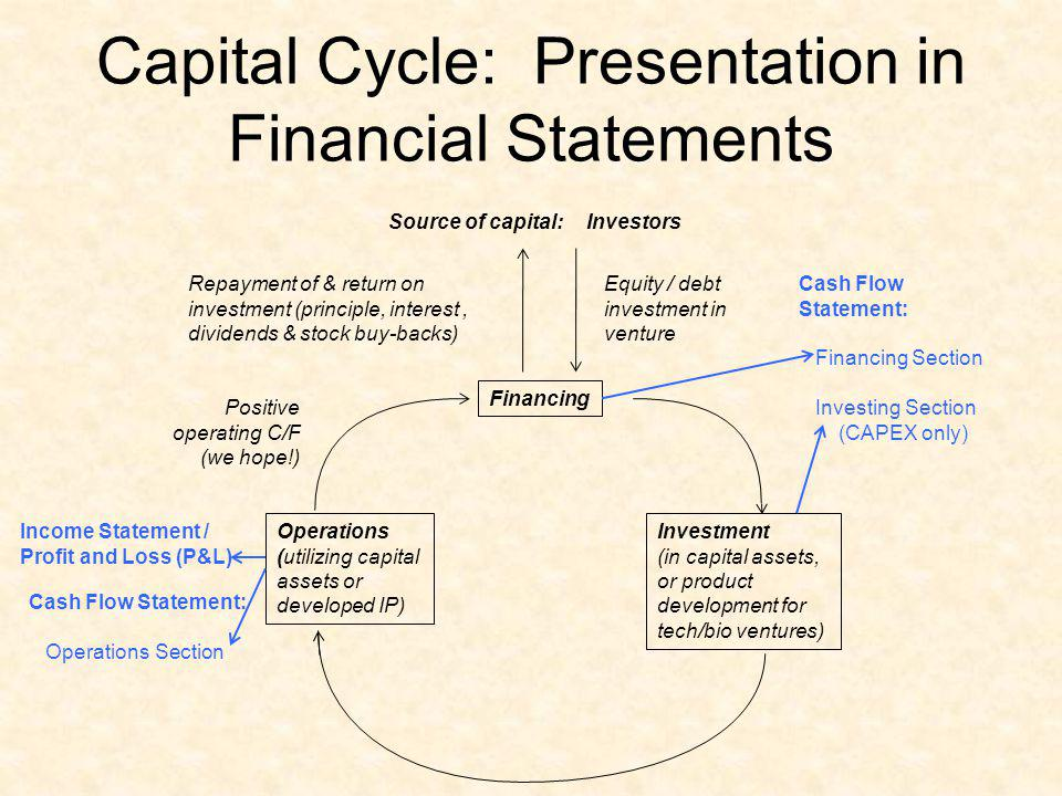 Capital Cycle: Presentation in Financial Statements