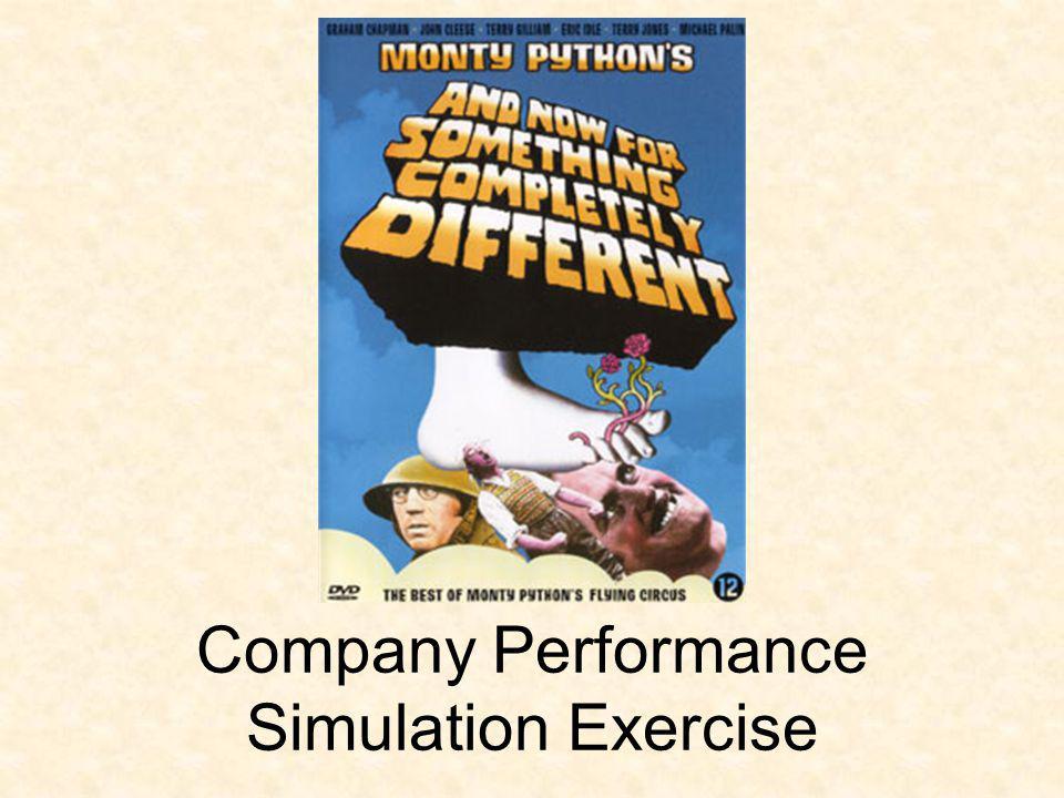 Company Performance Simulation Exercise