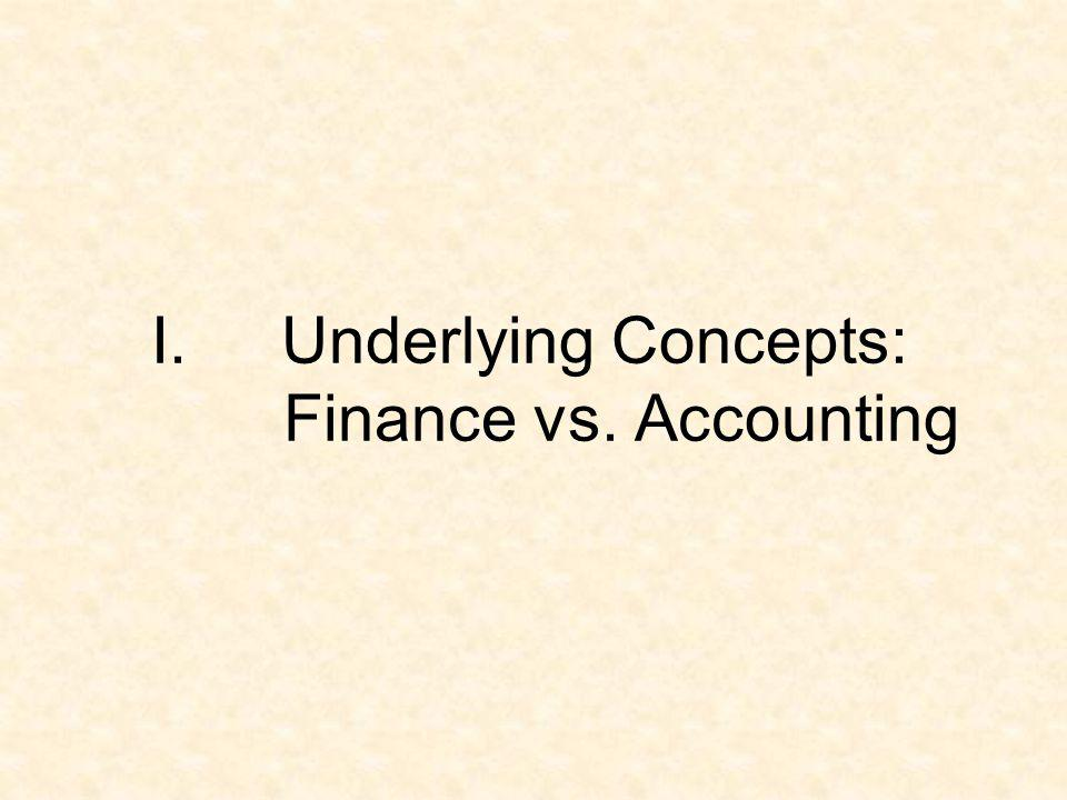 Underlying Concepts: Finance vs. Accounting
