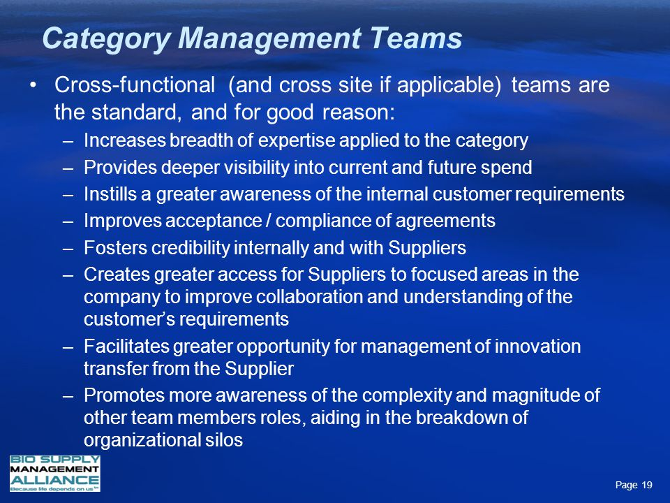 Category Management Teams