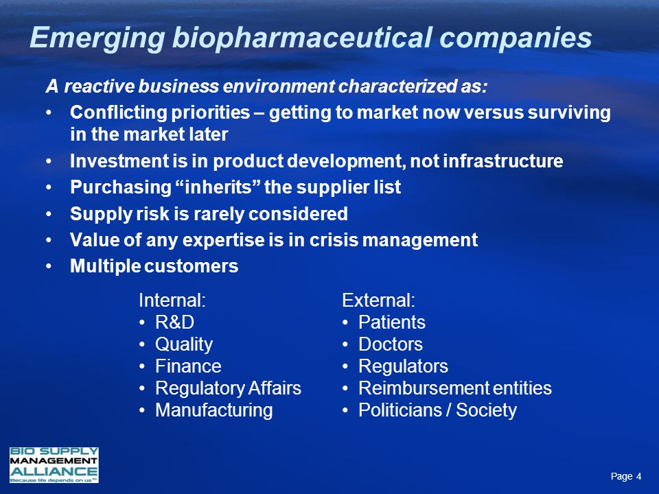 Emerging biopharmaceutical companies