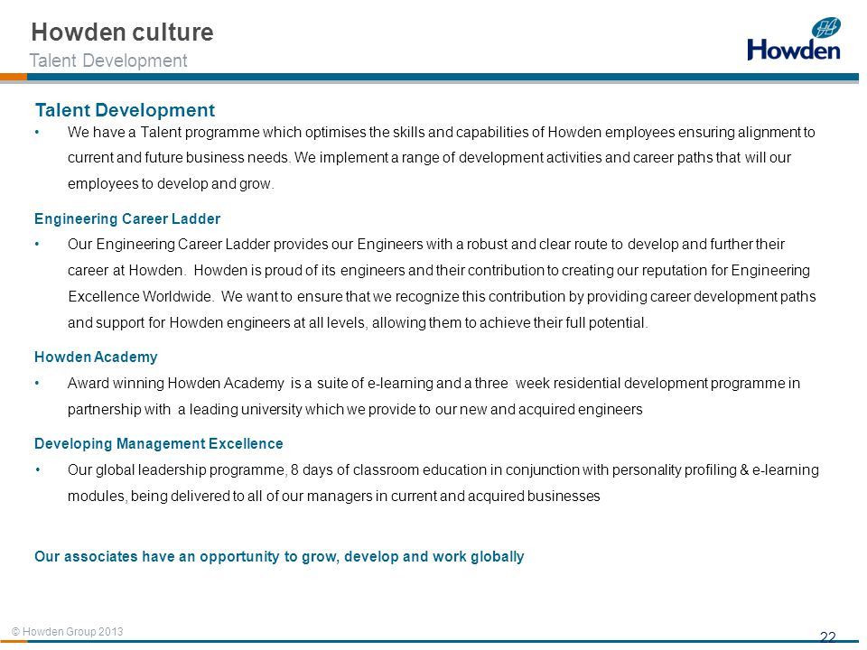 Howden culture Talent Development Talent Development