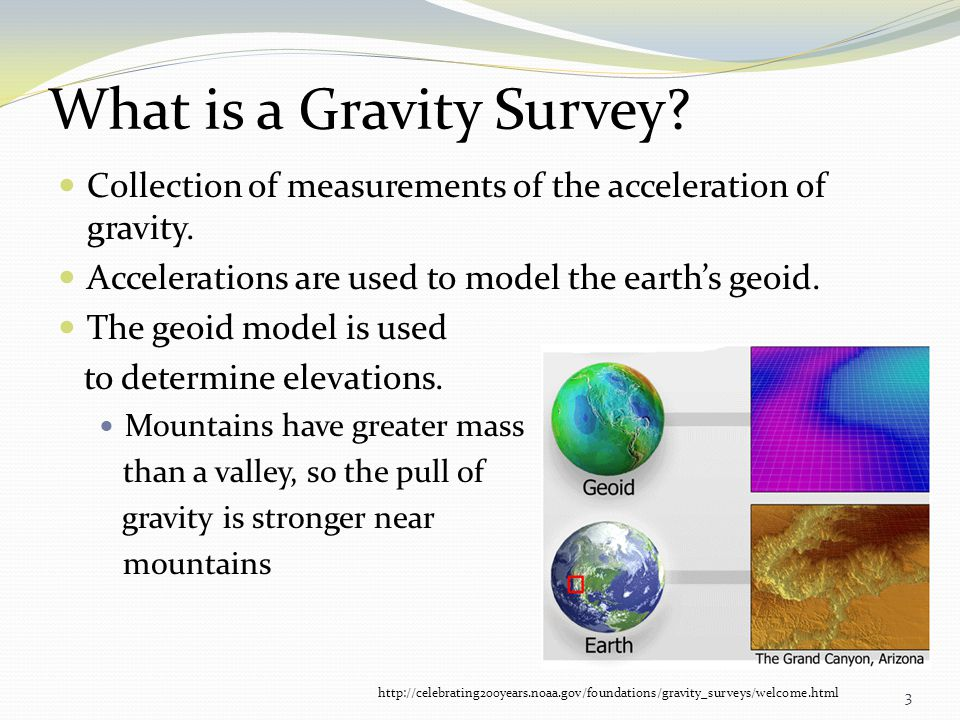 What is a Gravity Survey