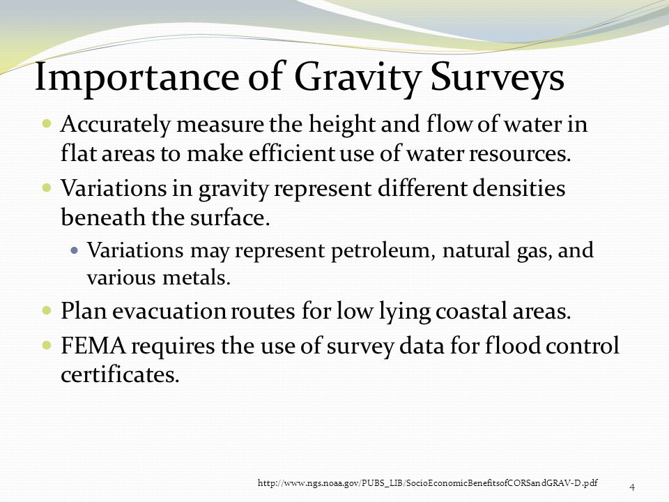 Importance of Gravity Surveys
