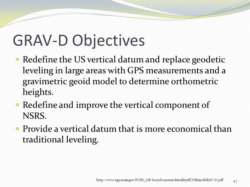 GRAV-D Objectives