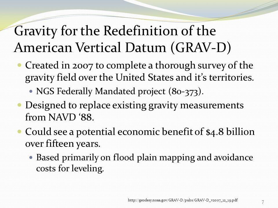 Gravity for the Redefinition of the American Vertical Datum (GRAV-D)
