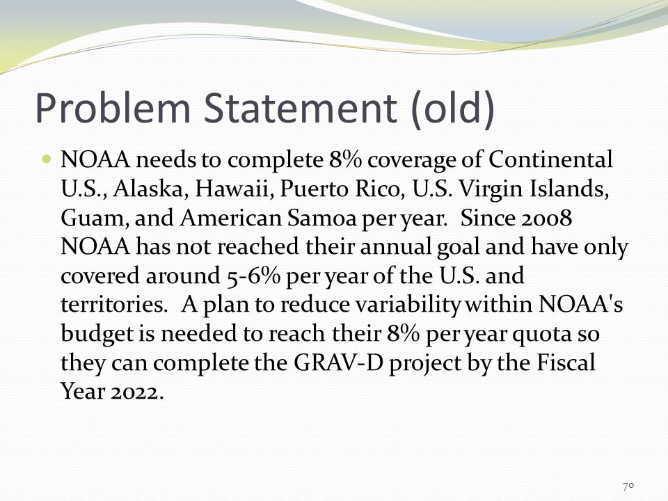 Problem Statement (old)
