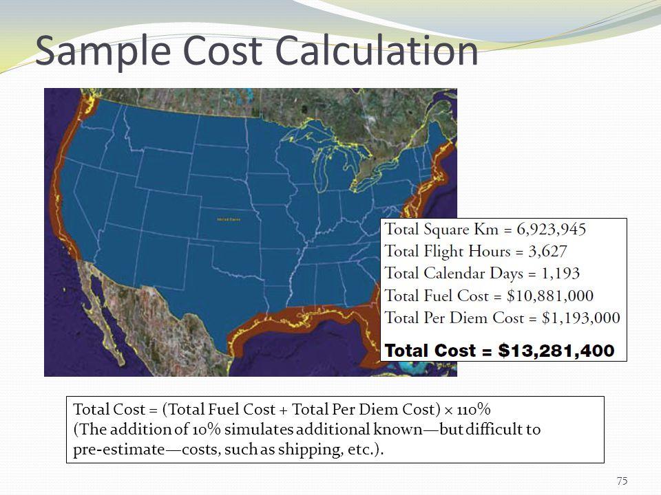 Sample Cost Calculation