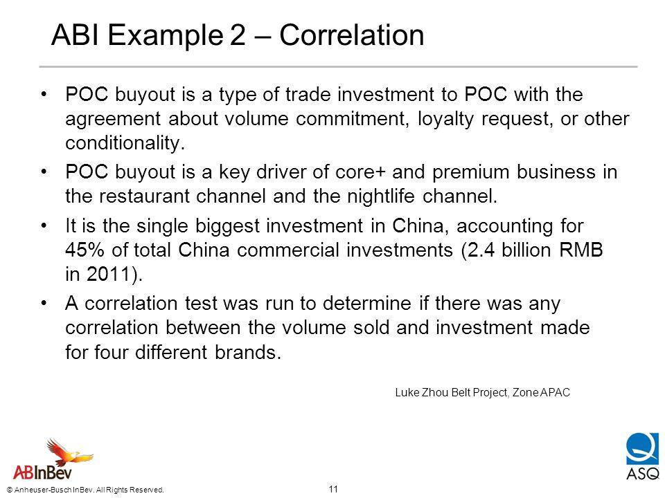 ABI Example 2 – Correlation