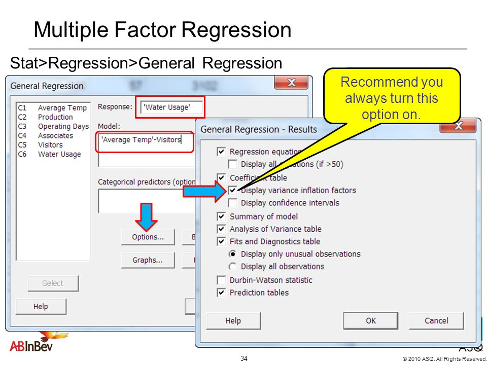 Multiple Factor Regression