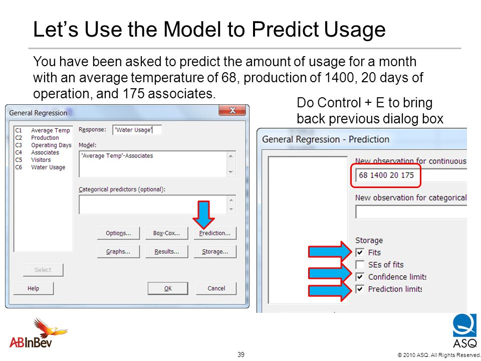 Let's Use the Model to Predict Usage