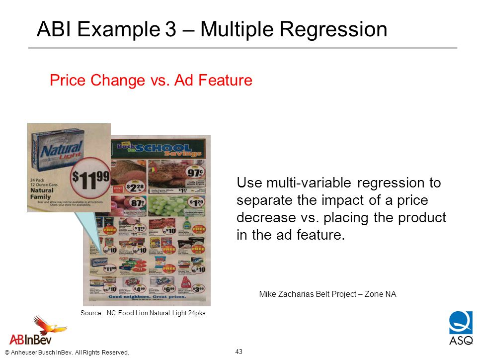 ABI Example 3 – Multiple Regression