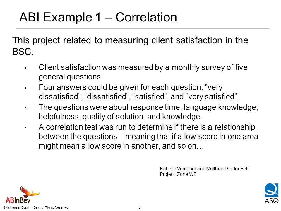 ABI Example 1 – Correlation