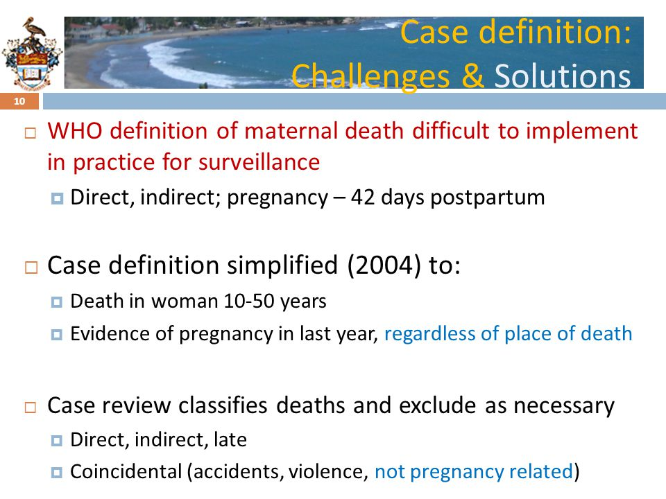 Case definition: Challenges & Solutions