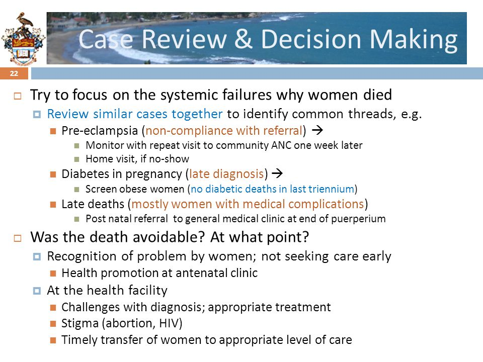 Case Review & Decision Making